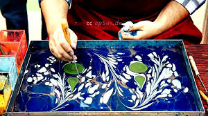 how to paint on water for paper marbling and ebru art youtube
