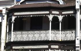 file wrought iron balcony a feature of the victorian italianate