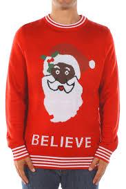 santa sweater black santa believe sweater popcult wear