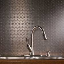 sle backsplashes for kitchens aspect wide hex stainless matted backsplash backsplash ideas
