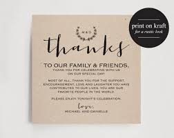 Wedding Signs Template Thank You Card Inspiring Styles Wedding Table Thank You Cards