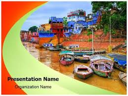 india river ganges powerpoint template background