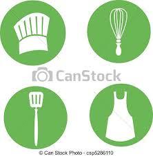 icone cuisine cuisinier ensemble cuisine icône tablier wisk spatule