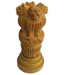 Big Bazaar Home Decor by Crafts Gallery Wooden Ashoka Pillar Handmade Indian Emblem For