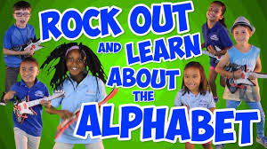 rock out and learn about the alphabet alphabet song for kids