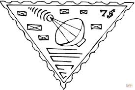 radio telescope postage stamp coloring page free printable