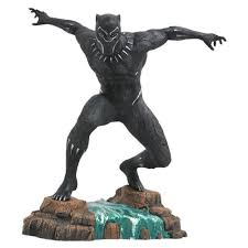 marvel gallery black panther statue select black