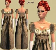 1800s hairstyles for sims 3 mod the sims regency adult and child female empire dress meshes