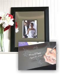 engravable guest book keepsake frame and engravable signature mat