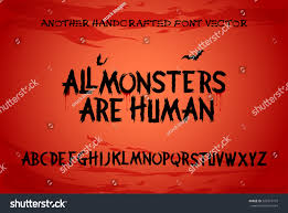 scary brush alphabet font horror thriller stock vector 549779719