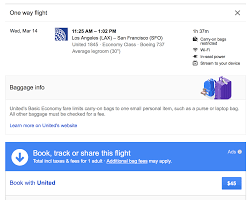 united airlines luggage policy google flights predicts delays before airlines warns of basic