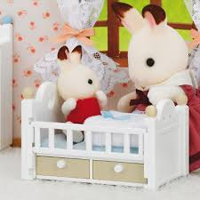 Rabbit Beds Sylvanian Families Chocolate Rabbit Baby With Baby Bed Store Petit