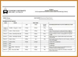 travel itinerary template notary letter