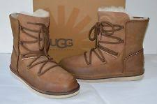 s ugg ankle boots with laces ugg elvi 1017534 lace up ankle chestnut boot sz 9 ebay