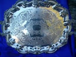 engraved serving platter silver silverplate platters trays antiques browser