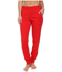 ferrari clothing puma ferrari sweat pants in red lyst