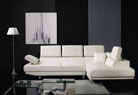 L Shaped Sectional Sofa Furniture Stunning Modern White Leather L Shaped Sectional Sofa