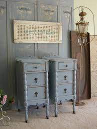Gray Nightstands Grey Solid Wood Bedroom Furniture Country Chic Gray Picture With