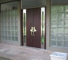 Exterior Steel Doors And Frames Furniture Large Brown Varnished Steel Doors With Glass