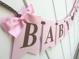 pink and brown baby shower baby girl banner in pink and brown baby shower decor pregnancy