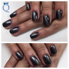 shortnails gelnails nails black cateye akyado kurzenägel