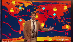 brad pitt delivers the weather in bit on comedy central daily