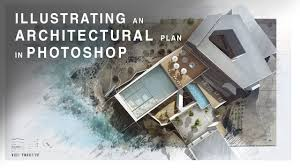 architectural plan illustrating an architectural plan in photoshop narrated