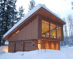 gable roof cabin garage modern with tall windows double garage