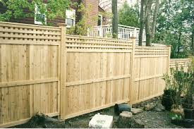 wood with lattace privacy fence cedar privacy styles by