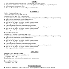 outline for resume