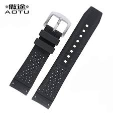 silicone strap bracelet images 22mm silicone watch straps for tag carrera men sport watchbands jpg