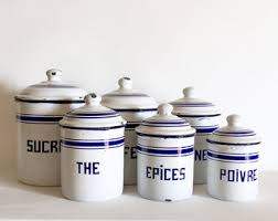 blue kitchen canisters vintage kitchen canisters etsy