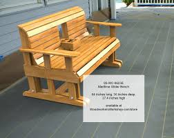05 wc 0623e maritime glider bench with hideaway console tray