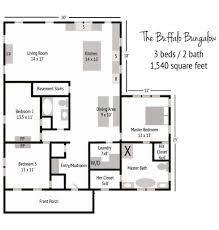 cottages floor plans floor california bungalow plans house single storey chicago
