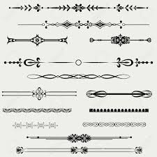 tribal clipart horizontal line pencil and in color tribal