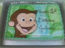 curious george birthday cake buttercream curious george birthday cake
