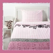 ikea mystisk duvet cover and pillowcase set lace pink twin size
