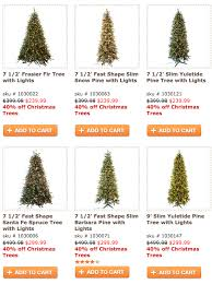 40 trees at hobby lobby in store