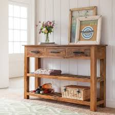 Large Console Table Drawers Fascinating Console Table With Drawers And Shelves