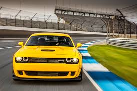 Dodge Challenger Yellow - first drive 2018 dodge challenger srt hellcat widebody rod