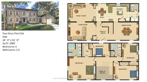floor plans for homes two story modular home two story 512 1 jpg