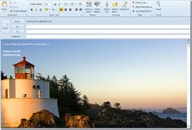 outlook 2010 add background image in mail compose window