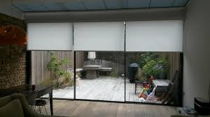Glass Wall Doors by Electric Blinds For Large Glass Walls U0026 Bifold Doors