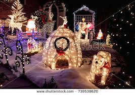 lighted dog christmas lawn ornament outdoor christmas decoration lights lighted ornaments stock photo