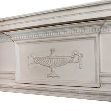 antique adam style fireplace mantel early 1900s preservation