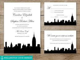 wedding invitations nyc new york city wedding invitation suite nyc skyline empire state
