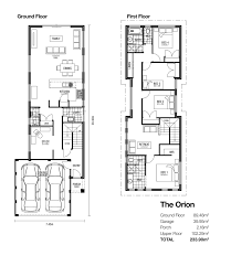 Floor Plan Two Storey by The Orion Classic Double Storey Designs Broadway Homes New