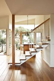 tour a peaceful modern australian home wood staircase foyers