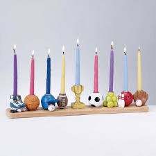 sports menorah sculptured whimsical sports menorah for children to get connected