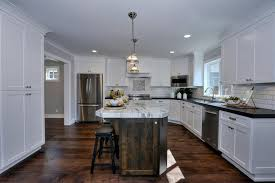 Traditional Kitchens With White Cabinets - traditional kitchen with hardwood floors u0026 flush in san jose ca